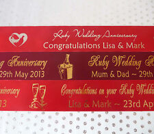 45mm Polyester RUBY Wedding Anniversary Ribbon PERSONALISED min. order 1 metre!