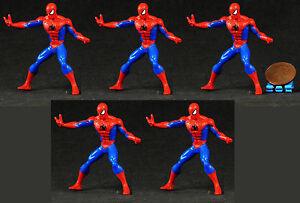 LOT OF 5 BULK MARVEL SUPERHEROS AMAZING SPIDER-MAN MAGNET FIGURE MODEL K201x5