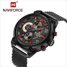 NAVIFORCE Luxury Men's Analog Quartz 24 Hour Date Watches 3ATM Waterproof Steel