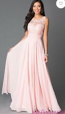 Prom Dress- Blush, open back with lace bodice- Only worn once!