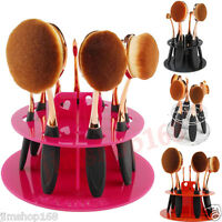 Hot 6/10 Hole Oval Makeup Brush Holder Drying Rack Organizer Cosmetic Shelf Tool
