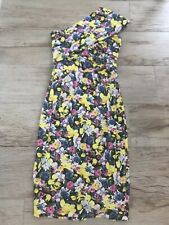 ASOS Floral Dress With Crossover Off The Shoulder Strap Detail - Size 6