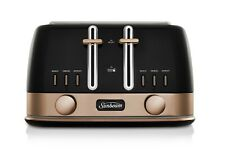 Sunbean New York Collection 4 slice Toaster - Black/Bronze TA4440KB