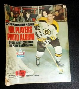 1970-71 Bobby Orr Cover, NHL Players Photo Album - ALL 224 STAMPS!