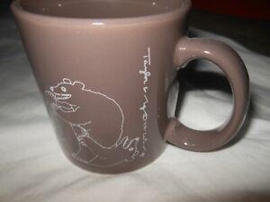 1979 Taylor & NG Brown Bear Naughty Coffee Mug Cup San Francisco