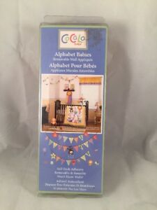 COCALO ALPHABET BABIES WALL DECALS STICKERS ABC's  BANNERS LION MONKEY OWL NIP