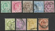 CAPE OF GOOD HOPE - KEVII Complete set of 9 to 5/- USED SG 70-78