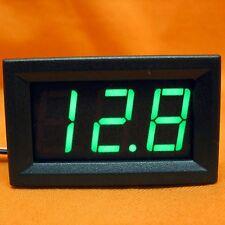 LED Volt Meter Voltage Green Panel Voltmeter DC 12V 24V Dual Battery 4WD 4X4 3wi