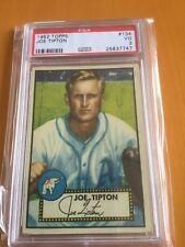 1952 Topps Baseball #134 Joe Tipton Philadelphia Athletics PSA 3