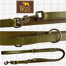 EXCLUSIVE MULTI PURPOSE DOG LEAD WOZA COW FULL LEATHER HANDMADE ADJUSTABLE F4729