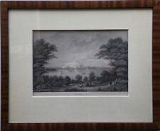 SCHWERIN STAHLSTICH - MECKLENBURG -  POPPEL UND KURZ - 26 x 32 cm