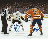 Sidney Crosby / Connor McDavid Autographed Signed 8x10 Photo ( HOF ) REPRINT