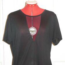9a98d543b7 2XL Sheer V Athletic Loose Fit Black T-shirt CASCADE SPORT Women s Shirt