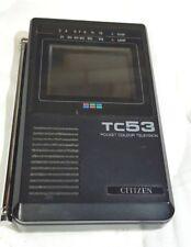 VINTAGE CITIZEN TC53 PORTABLE TV  POCKET 80` + MANUAL + BOX + HEADPHONES + CASE