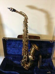 Vintage 1926 Buescher True-Tone Low Pitch Alto Saxophone w/ Original Case