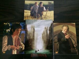 LORD OF THE RINGS FOTR  U.S. BASE SET (1-90)  2001 TOPPS  + RARE PUZZLE  CARDS
