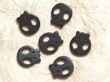 5pc - Perles Tête de Mort Crâne Noires 20mm  4558550034540