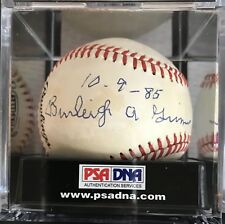 "Burleigh Grimes Autographed Inscribed ""10-9-85"" National League Ball, PSA COA"