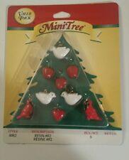 Westrim Beaded Miniature Christmas Tree Miniature Ornaments Resin Figures #4462