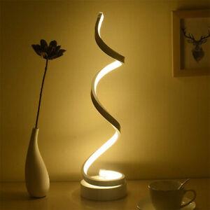 Modern LED Bedside Spiral Table Lamp Light Curved Dimmable AU Plug