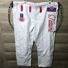 Tatami Fightwear Ladies Size F3 White/Pink Lotus BJJ GI Pants NWOT