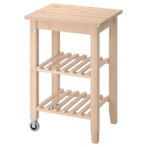 *New* BEKVÄM Kitchen trolley, birch 58x50 cm 302.403.48 *Brand IKEA*