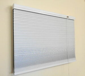 New 25mm Honeycomb Blind, Colour:White, Complete Blockout; Energy Efficient