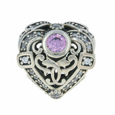 NEW Authentic Pandora Opulent Heart Charm - Sterling Silver Orchid 791964CZO