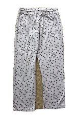 Women's Calvin Klein lightweight fleece sleep pajama lounge pants WHITE medium
