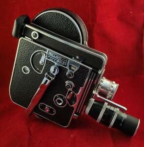 Paillard Bolex H16 Reflex 1957 Movie Film Camera + Lenses Case Manual Vintage