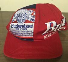 Vintage Budweiser Bud King of Beers Hat Cap Red White Blue Men's Adjustable 1994