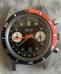 Vintage Bulova Deep Sea 666 Feet Swiss Watch Chronograph Cal.14 EB(Valjoux 7733)