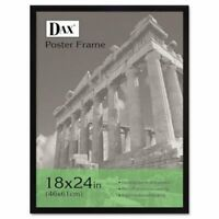Dax Flat Face Wood Poster Frame w/Plexiglas Window, 18 x 24, Black (DAX2860W2X)