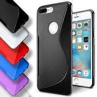 Apple iPhone 7 8 PLUS Silicone Gel S Line Case Cover Ultra Thin Slim Back Bumper