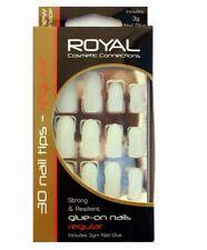 Faux ongles kit de  30 avec colle longs et neutres de marque Royal  false nails