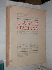 L ARTE ITALIANA Roberto Paribeni Valerio Mariani e Beatrice Serra Sei 1941 libro