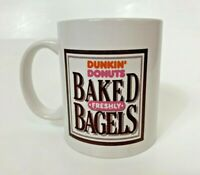 Dunkin' Donuts Freshly Baked Bagels Mug Logo Coffee Tea Cup Breakfast 10oz White