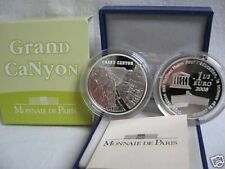 FRANCE UNESCO WORLD HERITAGE - THE GRAND CANYON  U S A 1,50 EURO SILVER