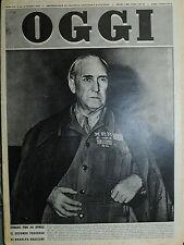 OGGI N°10/9/MAR/1950 * DURERA' FINO AD APRILE IL 2° PROCESSO DI RODOLFO GRAZIANI