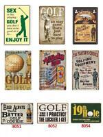 Metal Plate Sign Golf Club Course Sports Ball Art Home Wall Bar Decor Poster Tin