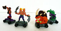 LOT 4 KENNER 1991 VINTAGE SAVAGE MONDO BLITZERS ON SKATEBOARDS 2''TALL FIGURES