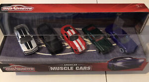 MAJORETTE American Muscle 5 Cars Set (Camaro, Mustang, Viper, Ford & Challenger)