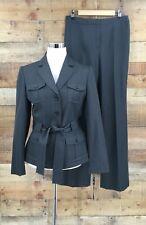 NWT Tahari Women's 2 Pc Garment Grey Pant Suit Size 6