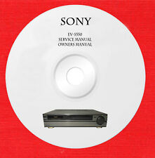 Service manual owner manual for Sony EV-S550 on 1 cd in pdf format