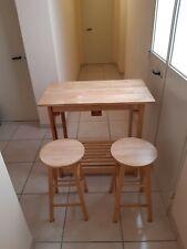 Tavolo cucina sgabelli a scomparsa legno massello tavolino veranda giardino