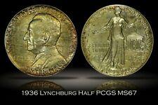 1936 Lynchburg Sesquicentennial Commemorative Half Dollar PCGS MS67 Nice Toning
