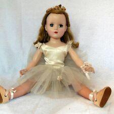 "Vintage 1950s Madame Alexander 18"" hard plastic ballerina doll, original outfit"