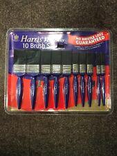 Harris No Bristle Loss Guaranteed 10 Pcs Paint Brush Set 12mm - 50mm Decorating