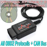 ELM 327 OBD2 OBDII USB Cable V1.5 Pro Car Diagnostic Interface Scanner Tool