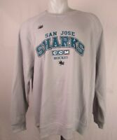 San Jose Sharks CCM Hockey Sweatshirt Men's S, M, L, XL, 2XL NHL